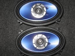 pioneer 4x6 2 way 4x6 pioneer speakers like new