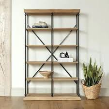 Distressed Wood Bookcase Bookcase Wood And Metal Bookcase Reclaimed Wood And Metal