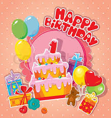 baby birthday baby birthday card with teddy big cake and gift boxes one