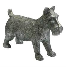 monopoly scottish terrier dog game token sculpture kathy kuo home