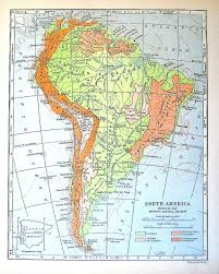 South America Physical Map by 1920 Map Of South America Physical Map Showing Natural