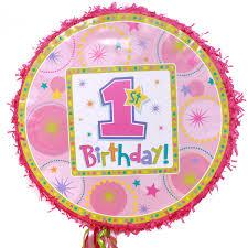 1st birthday girl 1st birthday girl expandable pull string pinata
