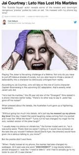 Jared Leto Meme - when will jared leto s madness end memes and stuff