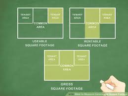 Calculating Square Footage Of House How To Measure Commercial Square Footage 13 Steps With Pictures