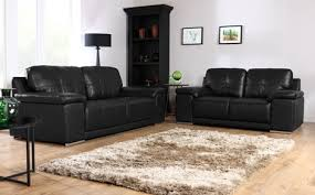 Leather Sofas Online 3 2 Black Leather Sofas Brokeasshome Com