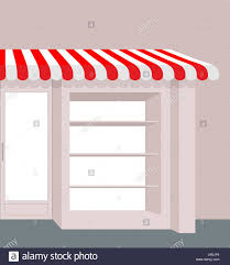 Red And White Striped Awning Storefront With Striped Roof Red And White Stripes Of Canopy Over