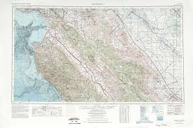 San Francisco Topographic Map by Monterey Topographic Maps Ca Usgs Topo Quad 36120a1 At 1