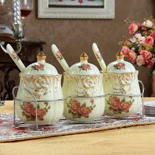 kitchen accessories apple ceramic decorative kitchen canisters