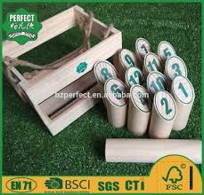 wooden yard bowling molkky game set finnish skittles game for