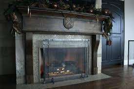 modern fireplace screen black contemporary screens glass 316