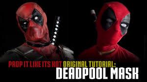 print your own halloween mask deadpool mask tutorial youtube