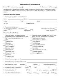 event planning questionnaire how to do stuff pinterest template