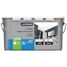 peinture blanche cuisine peinture blanche plafond cuisine et bains luxens mat 2 5 l leroy