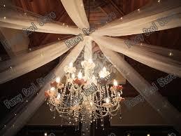 Wedding Ceiling Draping by Aliexpress Com Buy White 0 45m X10m Wedding Ceiling Drapes