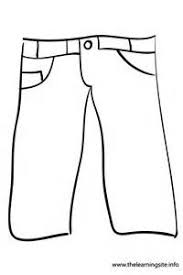 jean pant template sketch coloring page