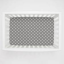 Rocking Mini Crib by Gray And White Polka Dot Mini Crib Sheet Carousel Designs