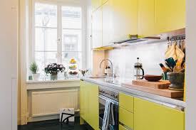 kitchen bright color with yellow cabinets and white inspirations