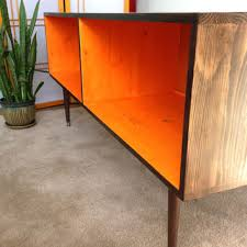 Midcentury Modern Tv Stand - mid century modern record cabinet media table tv stand