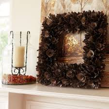thanksgiving door decoration fall leaves collection wood curl