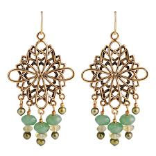 Citrine Chandelier Earrings Smith By Barse Aventurine Citrine Chandelier Earrings