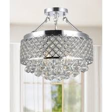 candice 4 light antique black semi flush mount crystal chandelier