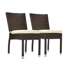 Outdoor Wicker Dining Chair Wicker Patio Dining Chairs You Ll Wayfair