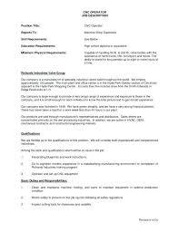 job sample cover letter cnc machinist resume sample operator job description for template