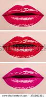 Hues Of Purple Lipstick Plump Lips Three Shades Stock Vector 482521564