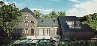 Modern Barn House House In Belgium Newarch Studio Render Architecture Modern