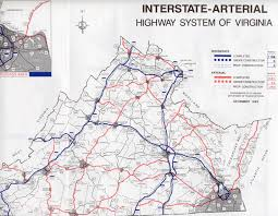 Virginia State Map A Large Detailed Map Of Virgi by Arterial Highway System In Virginia