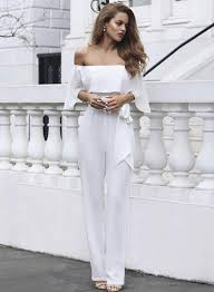 white jumpsuit shoulder white jumpsuit novashe com
