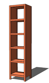 ana white 5 cube tower bookshelf diy projects