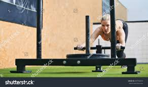 prowler press the site of muscular pushing prowler stock photo 207558619