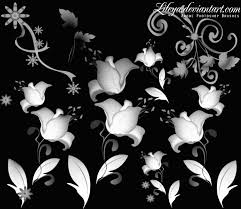 floral ornament decorative photoshop brushes brushlovers