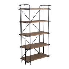 Industrial Metal Bookshelf Industrial Bookcases Houzz