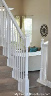 Stair Railings And Banisters How To Paint Stairwells My Frugal Adventures