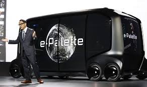 ces 2018 toyota shows e palette concept as future rv for burning