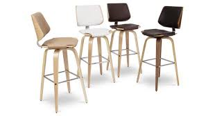 tabouret design cuisine tabouret de bar design avec pieds bois assise 77cm hambourg