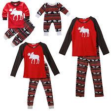 moose family pajamas set sleepwear