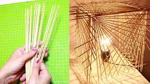 diy how to turn sticks into a decorative lamp do it yourself