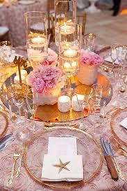 Pink And Gold Centerpieces by Best 25 Gold Beach Wedding Ideas On Pinterest Beach Wedding