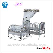 Baby Folding Bed 2016 Silvery Color Iron Baby Bed Baby Cradle Baby Folding Bed