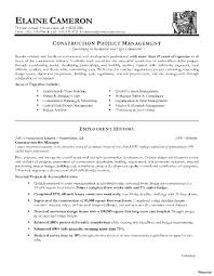 project manager resume templates collection of solutions sle resume construction project manager
