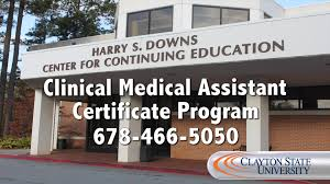 clayton state university clinical medical assistant certificate