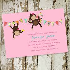 monkey invitations baby shower photo artslive boy baby image