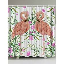 Flamingo Shower Curtains Flamingo Waterproof Shower Curtain With Hooks Pink W Inch L Inch