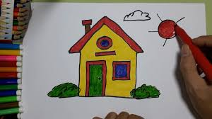 how to draw and coloring house draw and coloring house learning