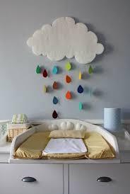 fabriquer déco chambre bébé cloud with colorful raindrops déco décoration