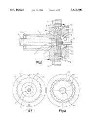 patent us5820504 trochoidal tooth gear assemblies for in line