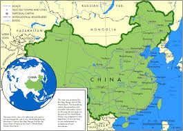 Blank China Map by China Major Cities U2022 Mapsof Net